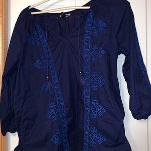 Beautiful blue knit shirt